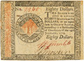Colonial Notes:Continental Congress Issues, Continental Currency. January 14, 1779 $80 Newman 2.3 Contemporary Counterfeit Fr. CC-102CF. PCGS Choice New 63.. ...