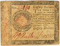 Colonial Notes:Continental Congress Issues, Continental Currency. January 14, 1779 $80 Newman 1.1 Contemporary Counterfeit Fr. CC-102CF. PCGS Very Fine 25 Apparent.. ...