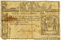 Colonial Notes:New York, Colony of New York February 16, 1771 5 Shillings Fr. NY-161. PCGSFine 15 Apparent.. ...