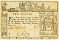 Colonial Notes:New York, Colony of New York February 16, 1771 10 Pounds Fr. NY-167. PCGS Extremely Fine 45 Apparent.. ...