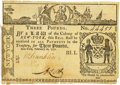 Colonial Notes:New York, Colony of New York February 16, 1771 3 Pounds Fr. NY-165. PCGS VeryFine 30 Apparent.. ...