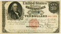 United States of America – Fr. 214 $10 1879 Refunding Certificate. PCGS Very Fine 30 Apparent