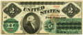 United States of America – Fr. 41 $2 1862 Legal Tender. PCGS Extremely Fine 40 Apparent