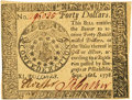 Colonial Notes:Continental Congress Issues, Continental Currency September 26, 1778 $40. Fr. CC-84 PCGS Choice About New 58PPQ.. ...