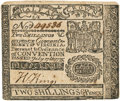 Colonial Notes:Virginia, Virginia July 17, 1775 2 Shillings 6 Pence Small Ordinance Fr.VA-72a. PCGS About New 50.. ...