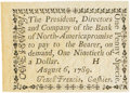 Colonial Notes:Pennsylvania, Pennsylvania Bank of North America August 6, 1789 1 Penny or $1/90Fr. PA-273, Haxby PA-465 G8, Newman page 364. PCGS Choice N...