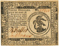 Colonial Notes:Continental Congress Issues, Continental Currency November 29, 1775 $3 Fr. CC-13. PCGS Very Choice New 64PPQ.. ...