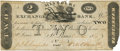 Obsoletes By State:Missouri, St. Louis, Missouri (T.) - Missouri Exchange Bank (of Wm. M. O'Hara & Co.) $2 October 1, 1819 MO-35 G14. PCGS Very Fine 25 App...