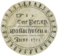 Colonial Notes:Massachusetts, Massachusetts - Parchment Facsimile for Nathaniel Paine's Monograph of the 1722 1 Penny Round (type of Fr. MA-71). PCGS About ...