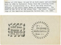 Colonial Notes:Massachusetts, Massachusetts - Facsimile Pair for Nathaniel Paine's Monograph of1722 2 Pence Rectangle & 1 Penny Round (types of Fr. MA-72&...