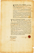 Colonial Notes:Pennsylvania, Pennsylvania - Bond to the Trustees of the General Loan Office of the Province of Pennsylvania for 139 Pounds 10 Shillings Sep...