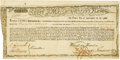 "Colonial Notes:Massachusetts, State of Massachusetts Bay - (Act of January 13, 1780) 6% Treasury Loan Certificate Payable ""in then current Money"" or ""in gre..."