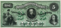 """Obsoletes By State:Mixed States, New York, NY - American Bank Note Company """"Anti-Photographic Security 1-2-5"""" Advertising Specimen Note Undated (1858). PCGS Ve..."""