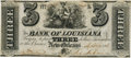 Obsoletes By State:Louisiana, New Orleans, LA - Bank of Louisiana $3 Sept. 19, 1861 LA-75 G6. PCGS Extremely Fine 40.. ...