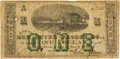 Obsoletes By State:Louisiana, New Orleans, LA- Red River Packet Co. $1 Dec. 1, 1861. PCGS Very Fine 25 Apparent.. ...