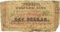 Obsoletes By State:Louisiana, New Orleans, LA - People's Line of New Orleans & Fort Adams Packets $1 Dec. 7, 1861. PCGS Very Good 8 Apparent.. ...