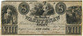 Obsoletes By State:Michigan, Ann Arbor, MI - Bank of Washtenaw, Payable at New York, NY $8 December 9, 1835 MI-50 G30, Lee-ANN-6-19. PCGS Extremely Fine 40...