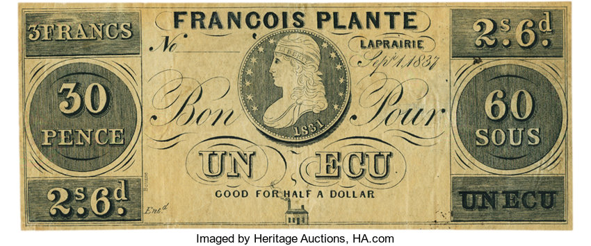 World Currency Canada Francois Plante Bourne Imprint Laprairie L C