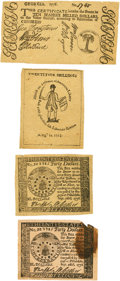 Colonial Notes:Mixed Colonies, Colonial and Continental Note Reprints used with the March 1863Harper's Article by Benjamin Lossing. Average Fine.. ... (Total: 5items)