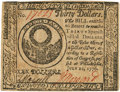 Colonial Notes:Continental Congress Issues, Continental Currency. July 22, 1776 $30 Newman 1.2 Contemporary Counterfeit Fr. CC-46CF. PCGS Extremely Fine 45 Apparent.. ...