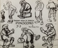 animation art:Model Sheet, Pinocchio Geppetto Studio Model Sheet (Walt Disney, 1940). ...