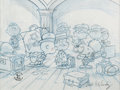 Animation Art:Concept Art, Peanuts - This is America, Charlie Brown Peanuts ConceptLayout Drawing Signed by Bill Melendez (Bill Melendez, 1988...