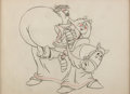 Animation Art:Production Drawing, Education for Death: The Making of a Nazi Hitler and Valkyrie Animation Drawing (Walt Disney, 1943). ...