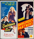 """Movie Posters:Crime, Confidence Girl & Other Lot (United Artists, 1953). Folded, Fine/Very Fine. Australian Daybills (2) (13.25"""" X 30"""" & 13.5"""" X ... (Total: 2 Items)"""