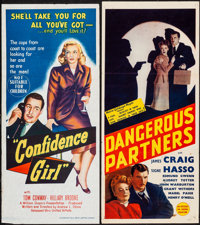 "Confidence Girl & Other Lot (United Artists, 1953). Folded, Fine/Very Fine. Australian Daybills (2) (13.25""..."