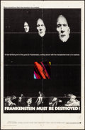 "Movie Posters:Horror, Frankenstein Must Be Destroyed & Other Lot (Warner Brothers,1970). International One Sheet (27"" X 41"") & Insert (14"" X36"")... (Total: 2 Items)"