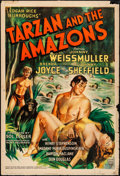 "Movie Posters:Adventure, Tarzan and the Amazons (RKO, 1945). Trimmed One Sheet (27"" X 40"").Adventure.. ..."