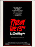 """Movie Posters:Horror, Friday the 13th: The Final Chapter (Paramount, 1984). Poster (30"""" X 40""""). Horror.. ..."""
