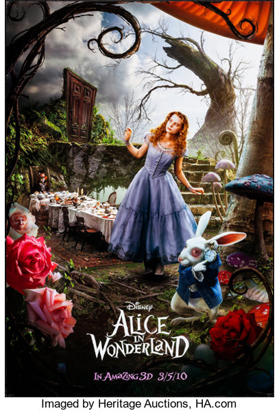 Alice In Wonderland Walt Disney Pictures 2010 One Sheets 2 Lot 52014 Heritage Auctions