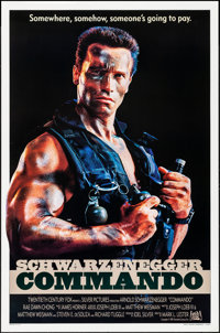 """Commando & Others Lot (20th Century Fox, 1985). One Sheets (3) (27"""" X 40"""" & 27"""" X 41""""..."""