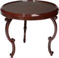 Furniture , A Swedish Low Side Table with Inset Glass Top, circa 1950. 23 x 27 inches (58.4 x 68.6 cm). ...