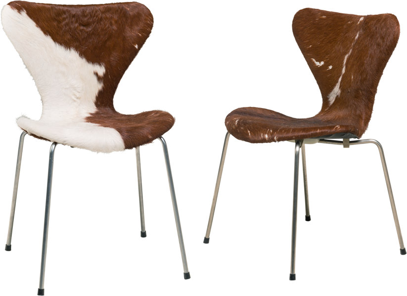 Astonishing A Pair Of Arne Jacobsen Model 3107 Calfskin Leather And Lamtechconsult Wood Chair Design Ideas Lamtechconsultcom