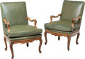 Furniture , A Pair of Louis XV-Style Carved Walnut Fauteuils, 19th century. 38 x 26 x 27 inches (96.5 x 66.0 x 68.6 cm). ... (Total: 2 Items)