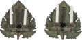 Lighting:Sconces, A Pair of Anglo-Indian Bronze Two-Light Leaf-Form Sconces, late 19th-early 20th century. 14-3/8 x 13 x 3-3/4 inches (36.5 x ... (Total: 2 Items)