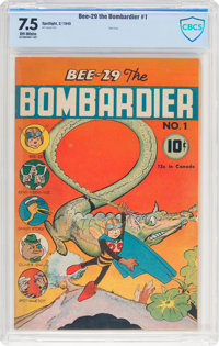 Bee-29 The Bombardier #1 (Neal Publications, 1945) CBCS VF- 7.5 Off-white pages