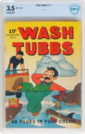 Golden Age (1938-1955):Adventure, Four Color #11 Wash Tubbs (Dell, 1942) CBCS VG- 3.5 Cream to off-white pages....