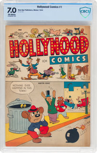 Hollywood Comics #1 (New Age Publishers, 1944) CBCS FN/VF 7.0 Off-white pages