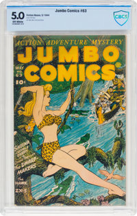 Jumbo Comics #63 (Fiction House, 1944) CBCS VG/FN 5.0 Off-white pages
