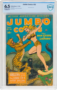 Jumbo Comics #65 (Fiction House, 1944) CBCS FN+ 6.5 Off-white to white pages