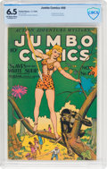Golden Age (1938-1955):Adventure, Jumbo Comics #69 (Fiction House, 1944) CBCS FN+ 6.5 Off-white to white pages....