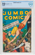 Golden Age (1938-1955):Adventure, Jumbo Comics #71 (Fiction House, 1945) CBCS FN/VF 7.0 Off-white pages....