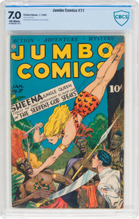 Jumbo Comics #71 (Fiction House, 1945) CBCS FN/VF 7.0 Off-white pages