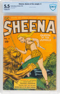 Golden Age (1938-1955):Adventure, Sheena, Queen of the Jungle #1 (Fiction House, 1942) CBCS FN- 5.5 Off-white to white pages....