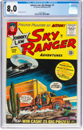 Golden Age (1938-1955):Crime, Johnny Law, Sky Ranger #2 (Lev Gleason, 1955) CGC VF 8.0 White pages....