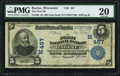 National Bank Notes:Wisconsin, Racine, WI - $5 1902 Date Back Fr. 590 The First NB Ch. # (M)457 PMG Very Fine 20.. ...