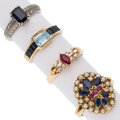 Estate Jewelry:Rings, Multi-Stone, Diamond, Seed Pearl, Gold Rings . ... (Total: 4 Items)